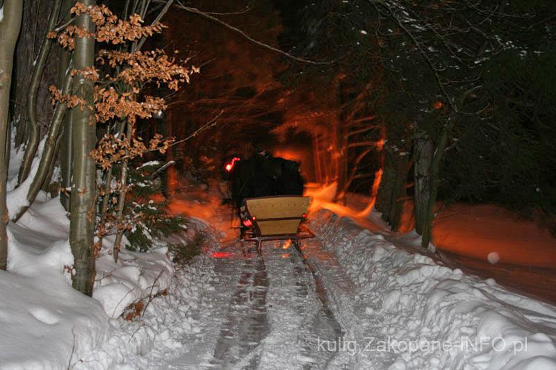 Zakopane Kuligi W Zakopanem Przejażdżki Saniami Konnymi Z Pochodniami